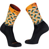 : Northwave  Core Sock Wool OrangeGreen M