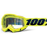 100% Accuri Gen2 goggle anti fog clear lens Fluo Yellow unis