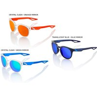 Bekleidung: 100percent 100% Campo Sonnenbrille - Mirror Lense 2018 Polished Crystal Clear Orange