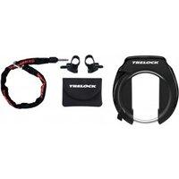 Zubehör/Schaltung: Trelock  RS 351 P-O-CZR 355 SET Rahmenschloss mit Kette
