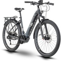 Fahrräder: Raymon Raymon TourRay E 8.0 Black  Dark Grey  Orange Matt Wave 44 2020