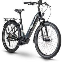 Fahrräder: Raymon Raymon TourRay E 7.0 Black  Dark Grey  Light Grey Gloss Wave 48 2020