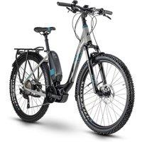 Fahrräder: Raymon Raymon CrossRay E 5.5 Street Black  Grey  Petrol Gloss Wave 2020 52 cm