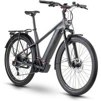 Fahrräder: Husqvarna  Gran Tourer 5 Anthracite  Black  Red Gent 2020 45 cm