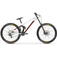 Fahrräder: Mondraker  Summum 27.5 Black - Dirty White- Flame Red 2021 S