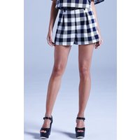 Girls on Film Navy and White Gingham Shorts size: 10 UK, colour: Navy