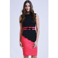 Paper Dolls Pink and Black Asymmetric Block Dress size: 10 UK, colour: