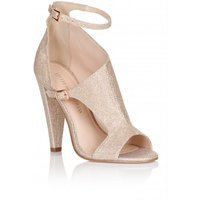 Little Mistress Footwear Nude Glitter Cut Out Shoes size: Footwear 4 U