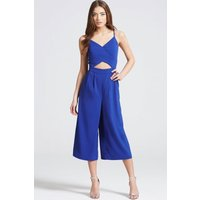Girls on Film Cobalt Cut Out Jumpsuit size: 8 UK, colour: Navy