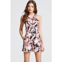 Girls on Film Print Crossed Strap Playsuit size: 6 UK, colour: Print