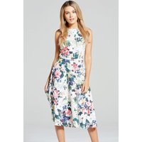 Paper Dolls Multi Floral Print Fit and Flare Dress size: 14 UK, colour