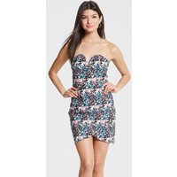 Outlet Girls On Film Floral Print Plunge Bandeau Dress size: 14 UK | E