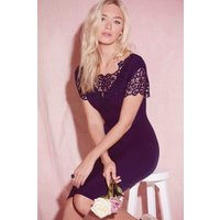 Paper Dolls Navy Lace Detail Bodycon Dress size: 14 UK, colour: Navy