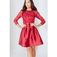 Berry Lace Prom Dress