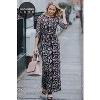 Little Mistress Embroidered Floral Maxi Dress size: 20 UK, colour: Mul
