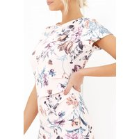 Girls on Film Floral Print Dress  size: 8 UK | EUR 36, colour: Nude