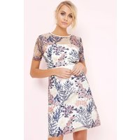 Girls on Film Floral Print Embroidered Dress size: 6 UK, colour: Flora
