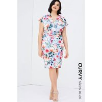 Paper Dolls Rose Print Dress  size: 18 UK, colour: Floral Print