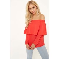 Girls on Film Coral Top  size: 14 UK, colour: Coral
