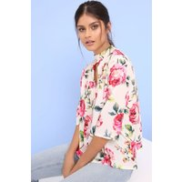 Outlet Girls On Film Rose Print Top  size: 12 UK | EUR 40, colour: Pri