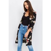 Girls on Film Black Print Jacket  size: XS, colour: Print / Black