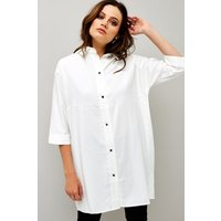 Girls on Film Lace Up Back Shirt size: S, colour: White