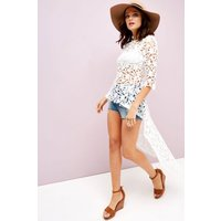 Girls on Film White Crochet Top size: S, colour: White