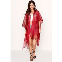 Outlet Girls On Film Red Kaftan  size: ONE SIZE, colour: Red