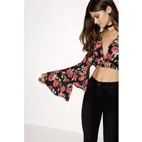 Outlet Girls On Film Rose Print Top size: 16 UK, colour: Multi