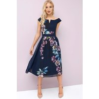 Little Mistress Navy Floral Prom size: 8 UK, colour: Print