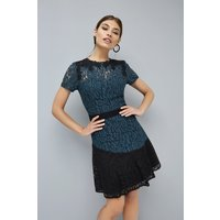 Little Mistress Peacock Lace Prom size: 14 UK | EUR 42, colour: Teal