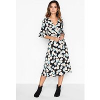 Girls on Film Floral Wrap Dress  size: 6 UK, colour: Print