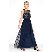 Navy Embroidered Maxi