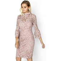 Paper Dolls Pink Bodycon Dress size: 10 UK, colour: Pink