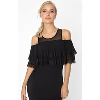 Outlet Girls On Film Black Frill Bodycon size: 12 UK, colour: Black