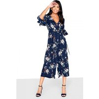 Outlet Girls On Film Printed Wrap Jumpsuit size: 6 UK, colour: Multi
