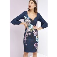 Little Mistress Navy Floral Dress size: 8 UK, colour: Print