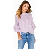 Girls on Film Frill Sleeve Knit size: 16 UK, colour: Lilac