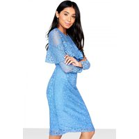 Outlet Girls On Film Frill Front Detail Lace Bodycon Dress size: 10 UK