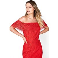 Little Mistress Red Lace Bodycon size: 12 UK, colour: Red