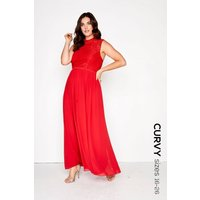 Little Mistress Curvy Cayenne Lace Maxi size: 16 UK, colour: Red