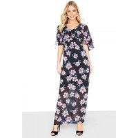 Outlet Girls On Film Printed Maxi Dress size: 12 UK, colour: Print