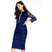 Little Mistress Navy Mesh Bodycon size: 14 UK, colour: Navy