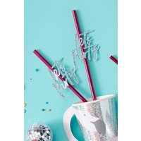 'Lets Party' Straws