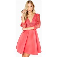 Little Mistress Coral Skater Dress size: 8 UK, colour: Coral