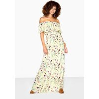 Girls on Film Danielle Maxi Dress In Floral Meadow size: 6 UK, colour: