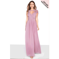 Little Mistress Blush Wrap Maxi size: 10 UK, colour: Pink