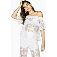 Girls on Film Marlin Lace Off The Shoulder Top size: 8 UK, colour: Whi
