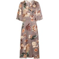 Daydreamer Kimono Sleeve Dress size: M/L, colour: Grey Print