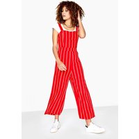 Girls on Film Jermaine Pinstripe Jumpsuit size: 8 UK, colour: Red